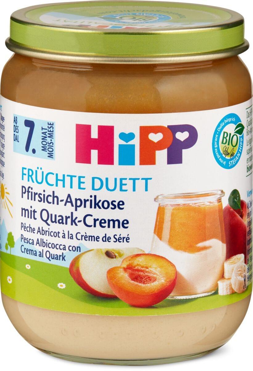 Bio HiPP Pfirsich Aprikose mit Creme
