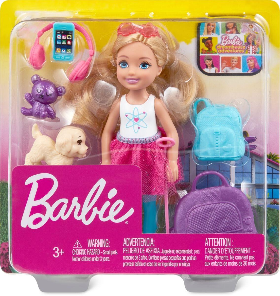 Barbie FWV20 Travel Chelsea Puppenset