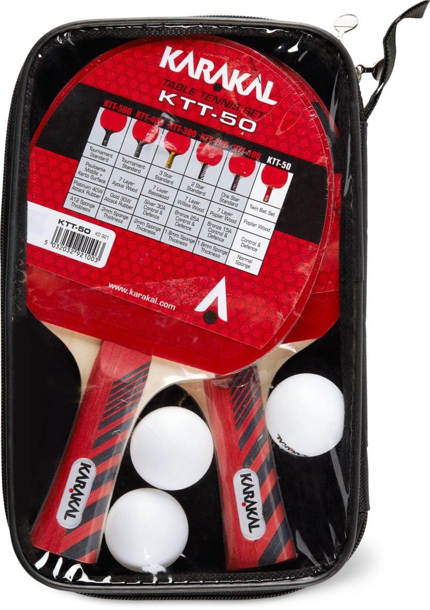 KARAKAL Ping Pong Set mit 3 Bällen