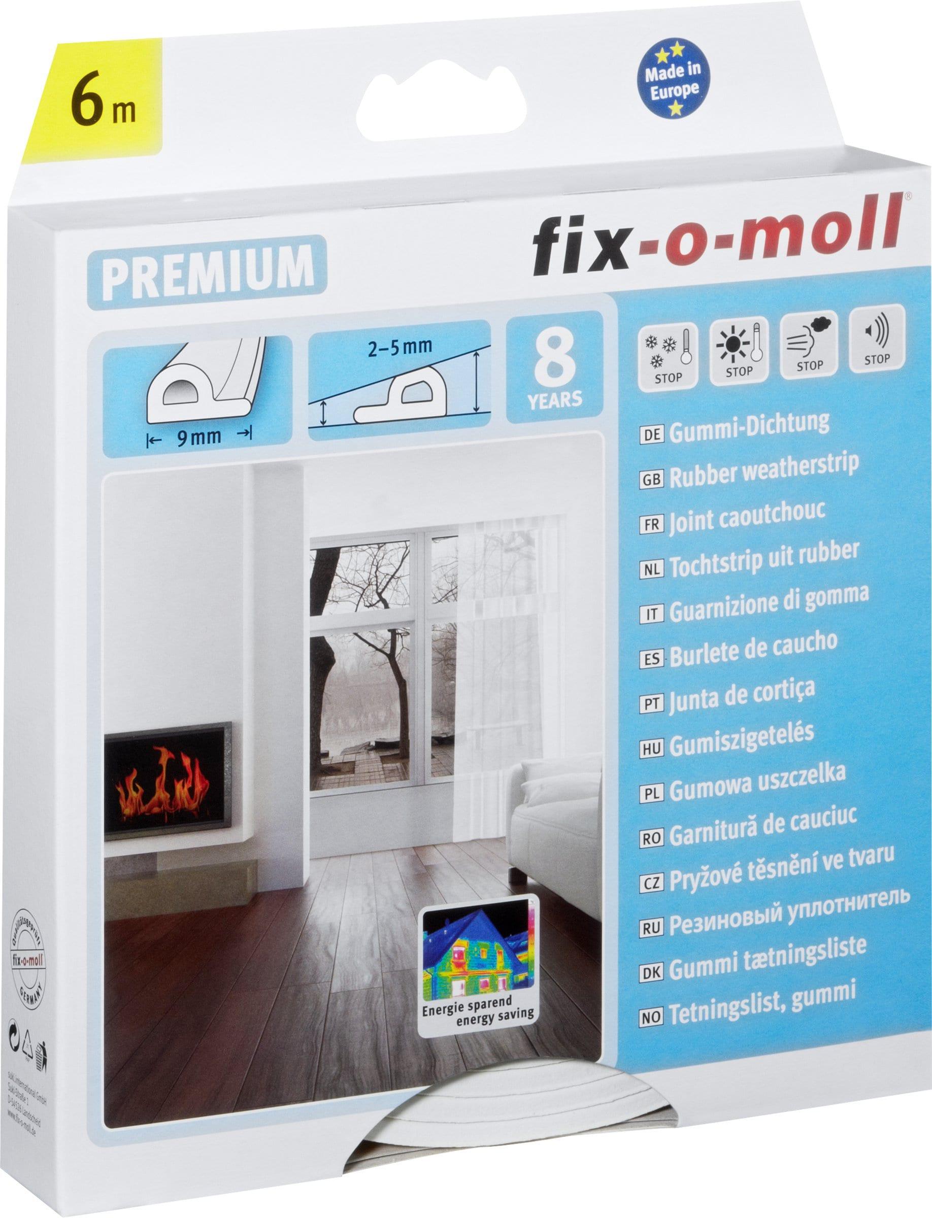 Fix-O-Moll P-Profil Gummi-Dichtung