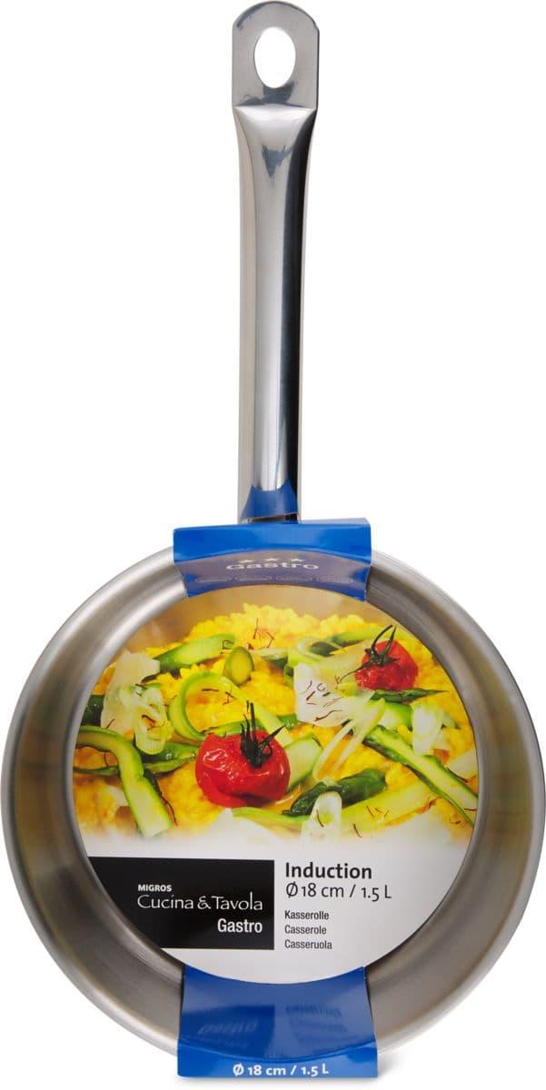 Cucina & Tavola Stielkasserolle 18cm GASTRO