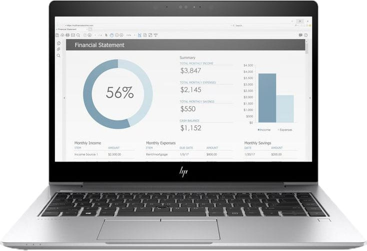 HP EliteBook 735, Ryzen Pro 5-2500U, 8GB Ordinateur portable