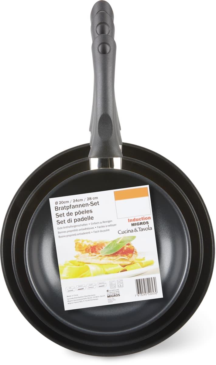 Cucina & Tavola Bratpfanne im 3er-Set, 3er-Set.Bei allen Angeboten sind M-Budget und bereits reduzierte Artikel ausgenommen.