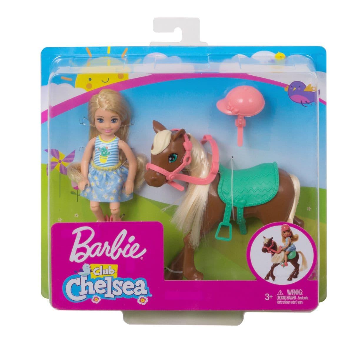 Barbie GHV78 Chelsea & Pony Puppenset
