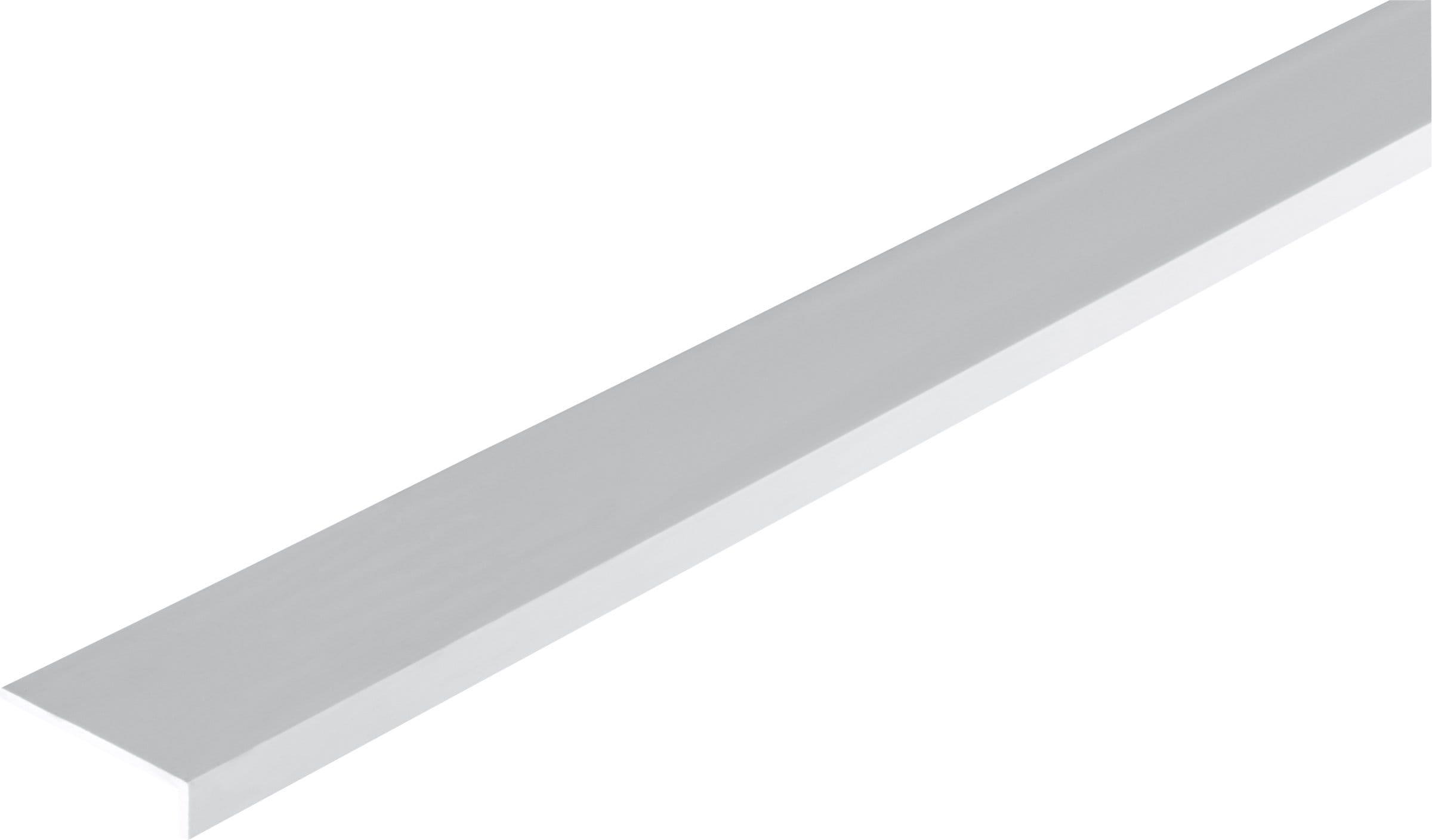 alfer winkel profil ungleichschenklig 2 x 40 x 10 mm pvc weiss 1 m migipedia. Black Bedroom Furniture Sets. Home Design Ideas