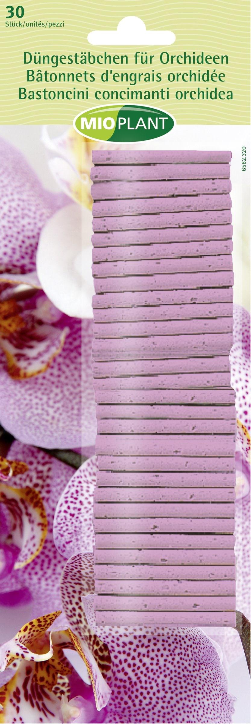 Mioplant Düngestäbchen für Orchideen, 30 Stück
