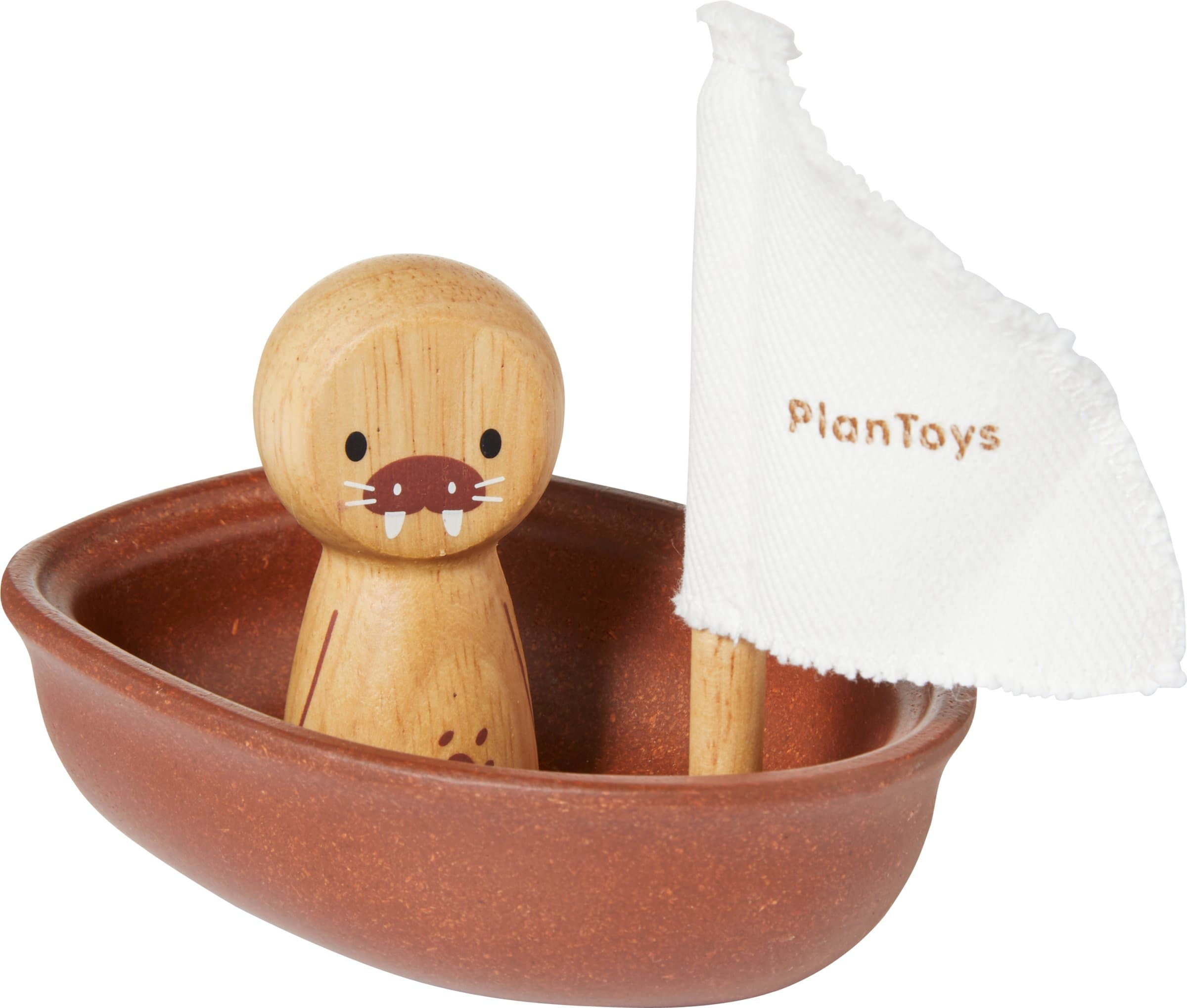 Plan Toys WATER PLAY Barda a vela tricheco