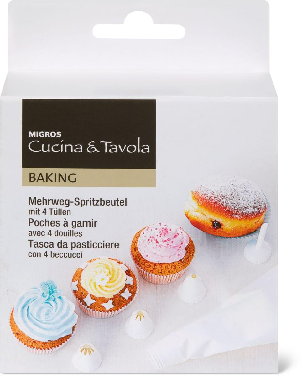 Cucina & Tavola Poche à douille 25cm, avec 4 douilles
