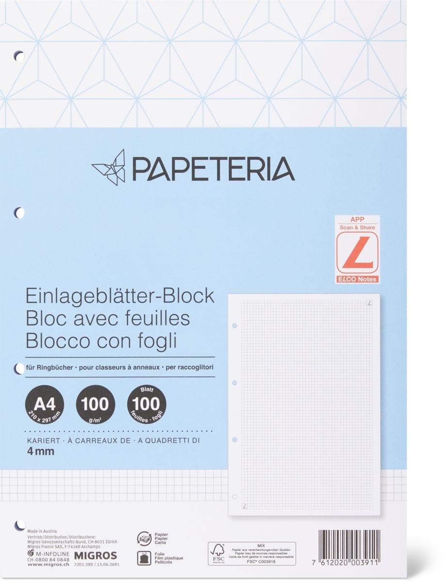 Papeteria Einlageblätter-Block A4