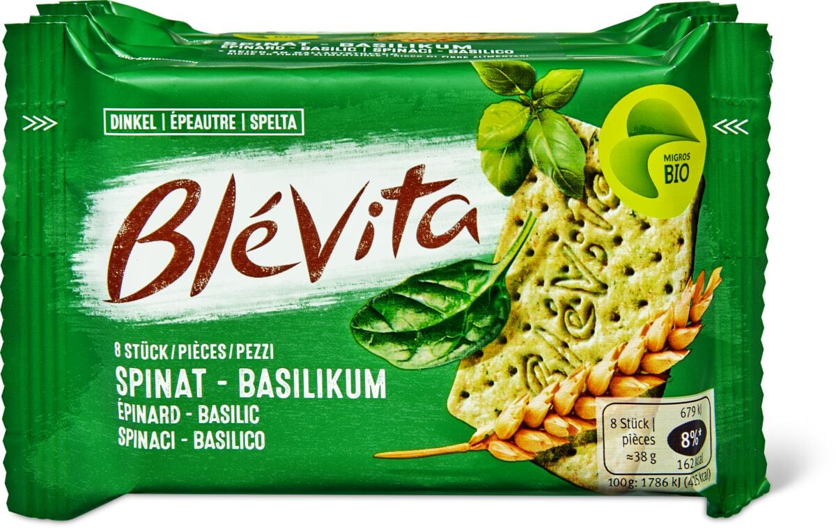 Bio Blévita Spinat - Basilikum