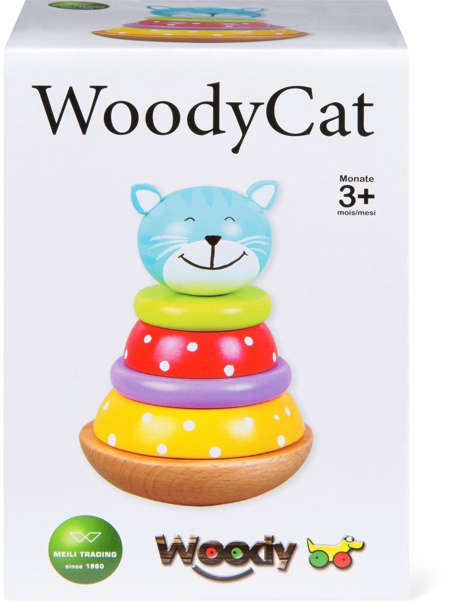 WOODY CAT. Lustige Wackelkatze aus 6 stabilen Holzteilen (FSC®)