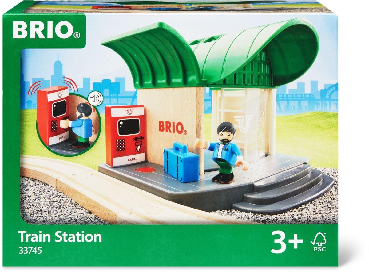Brio Bahnhof mit Sound (FSC®) Bahn