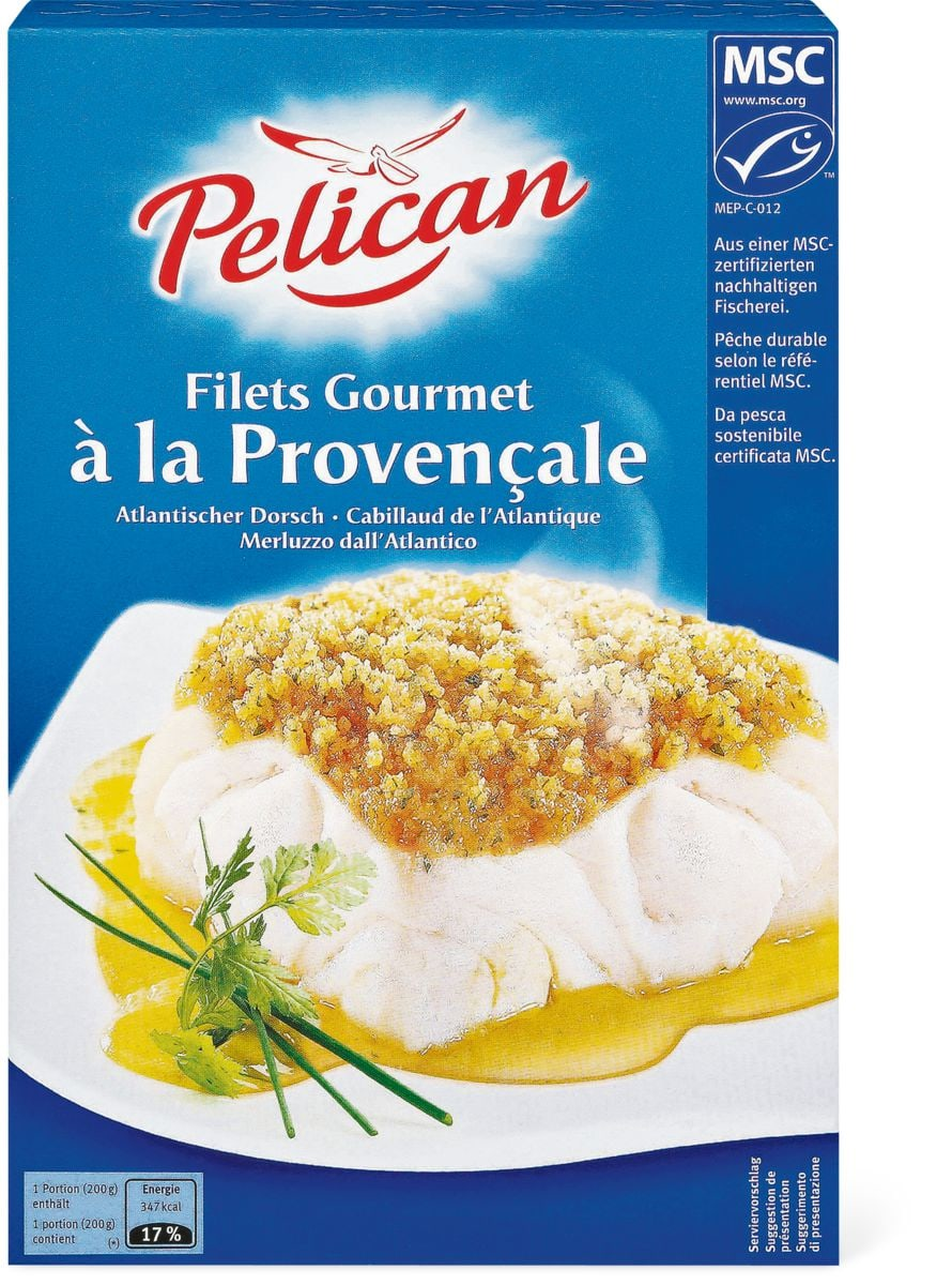 Pelican Filets Gourmet à la Provençale in Sonderpackung, MSC