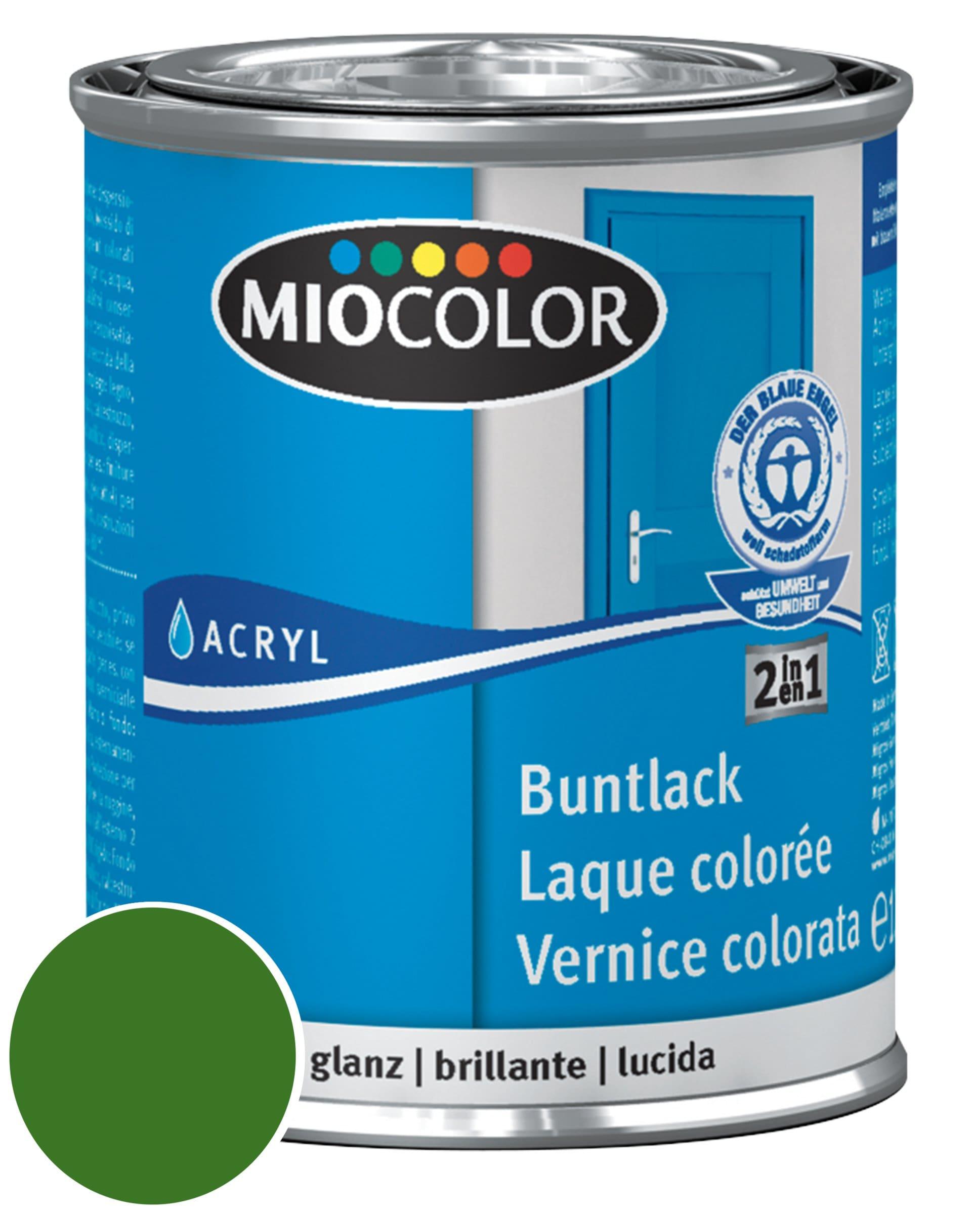Miocolor Acryl Vernice colorata lucida Blu genziana 750 ml