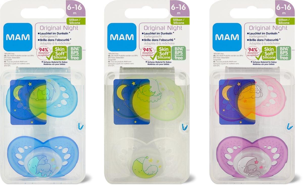 MAM Night Succhietto, 2 pezzi, 6-16 mesi