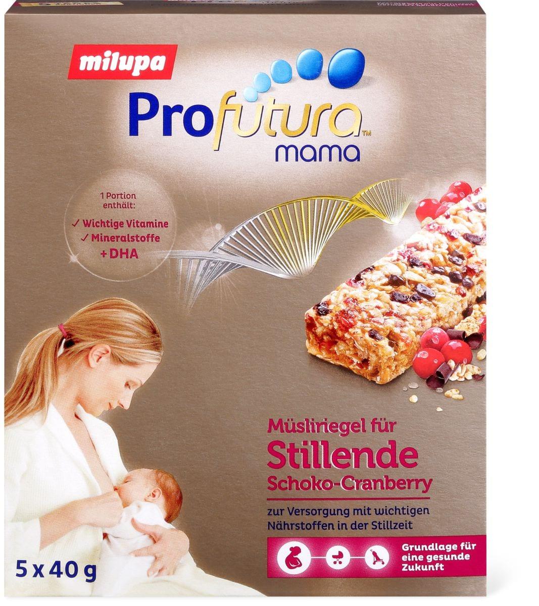 Milupa Profutura mama pour femmes allaitantes - Barre de céréales Cranberry & Chocolat