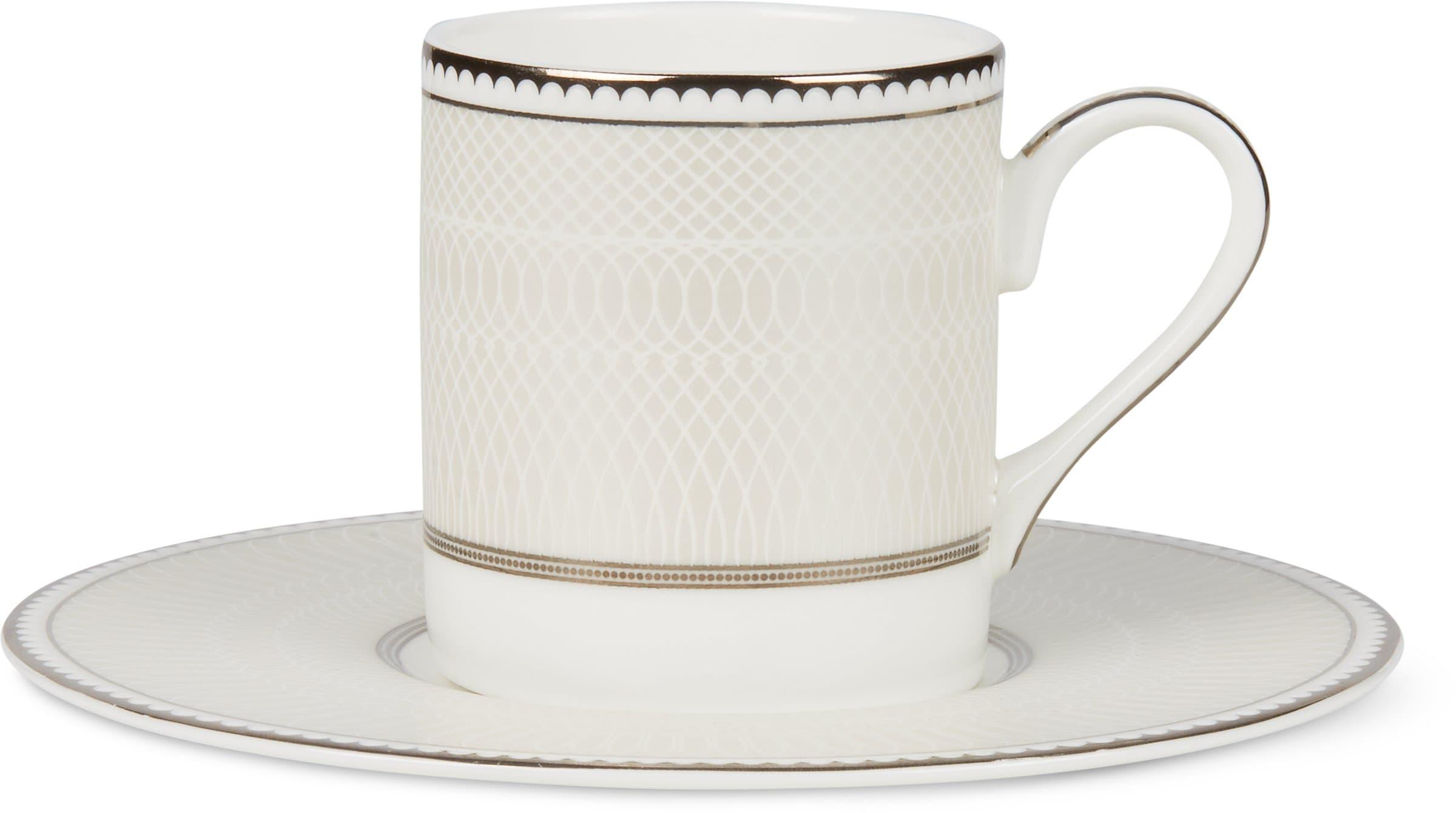 Cucina & Tavola NOBLESSE Espressotasse mit Unterteller Tasse