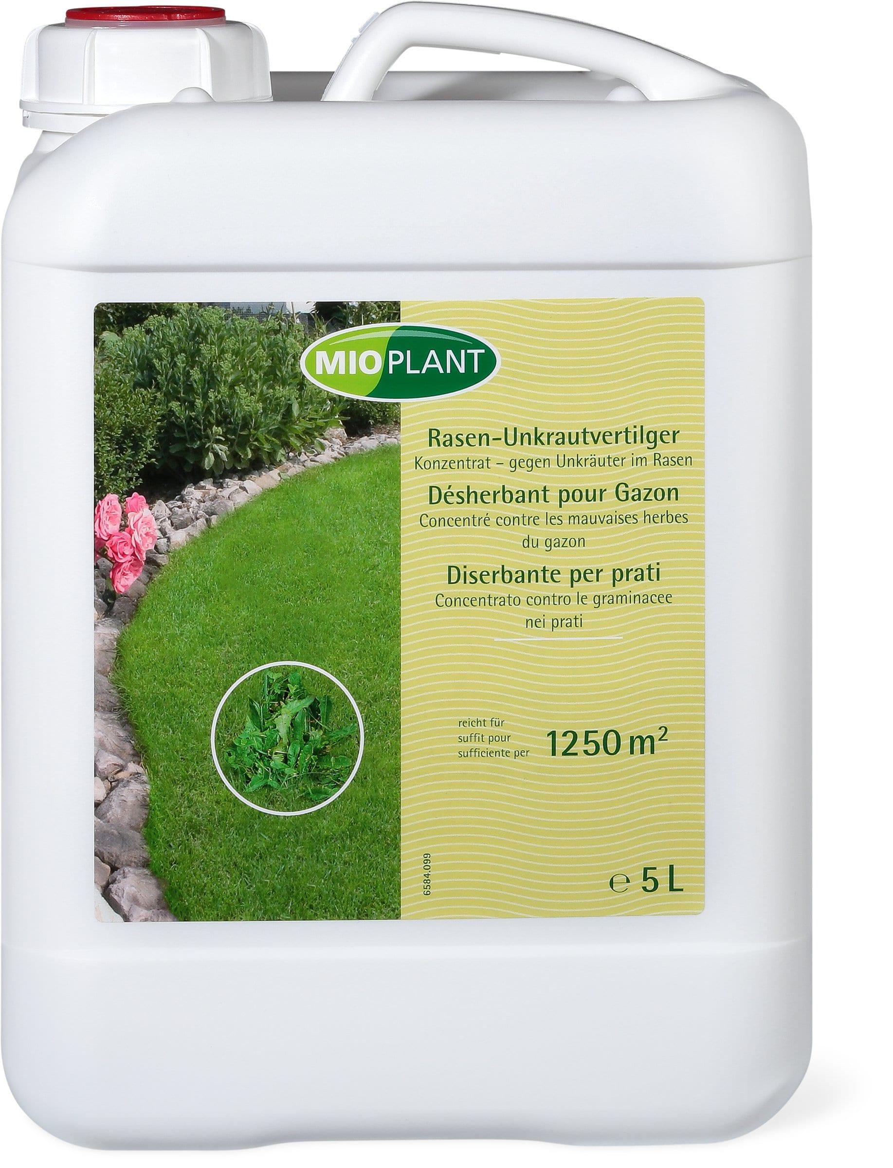mioplant d sherbant pour gazon concentr contre les mauvaises herbes du gazon 5 l migros. Black Bedroom Furniture Sets. Home Design Ideas