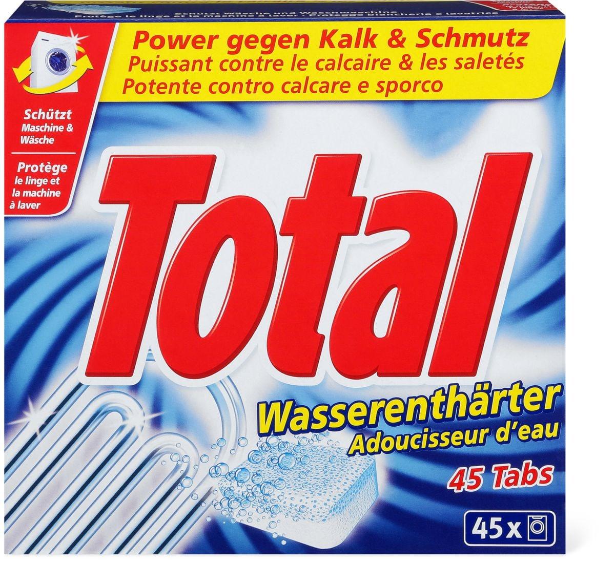 Total adoucisseur d'eau pastilles