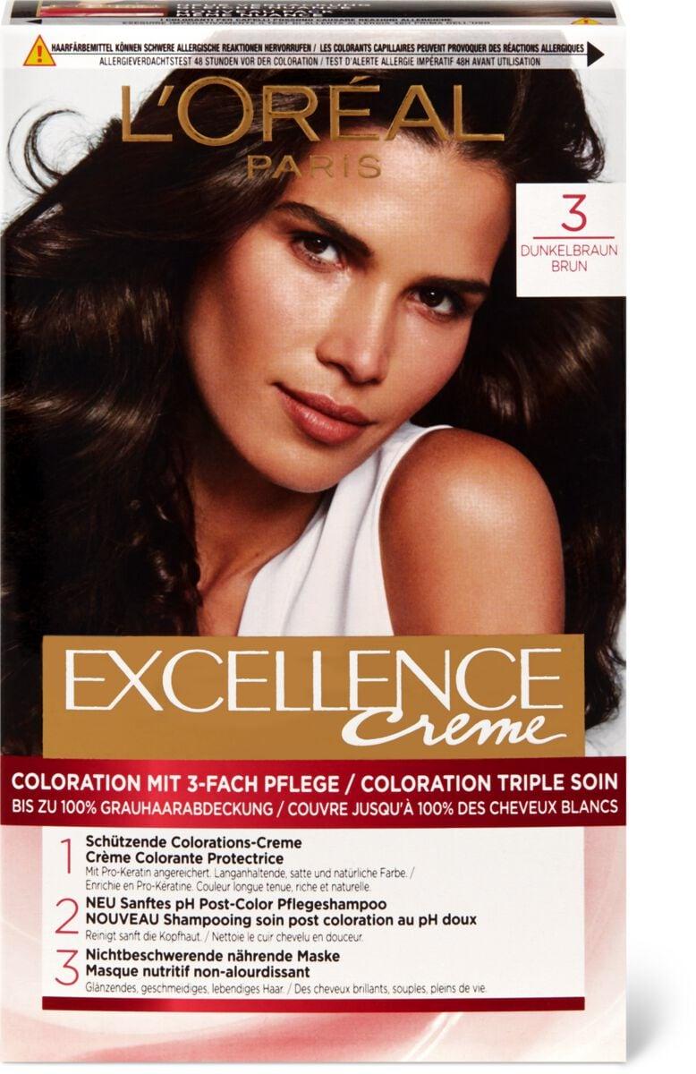 L'Oréal Excellence Creme 3 Dunkelbraun