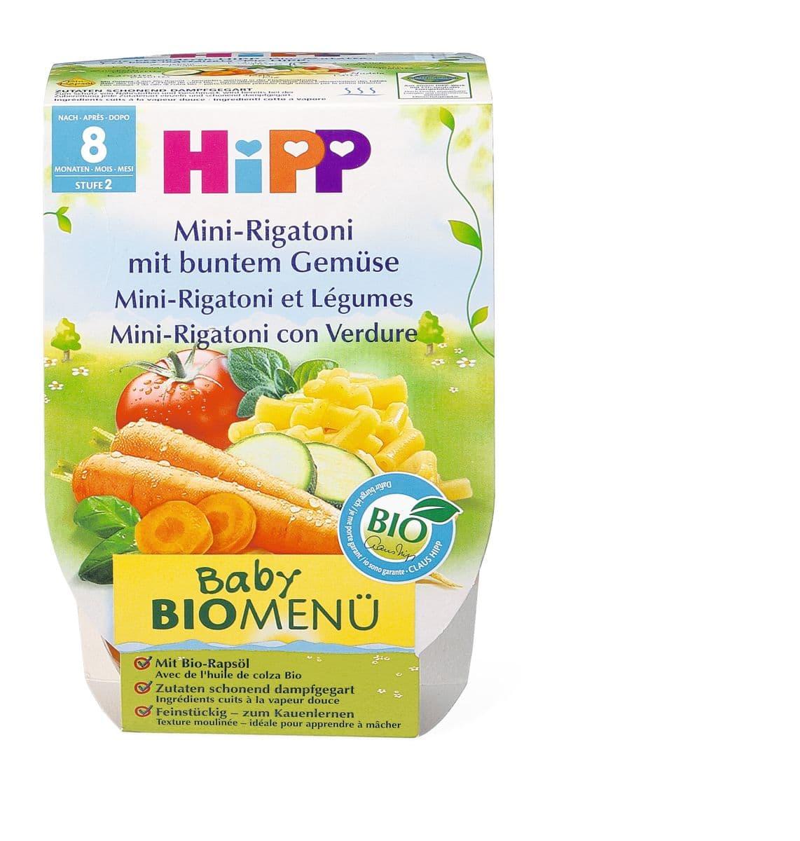 Bio HiPP Mini rigatoni et légumes