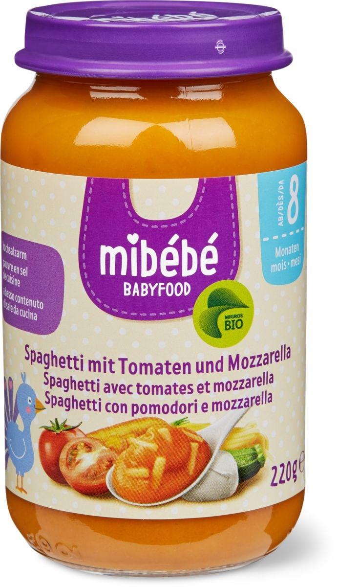 Mibébé spaghettis tomates mozzarella