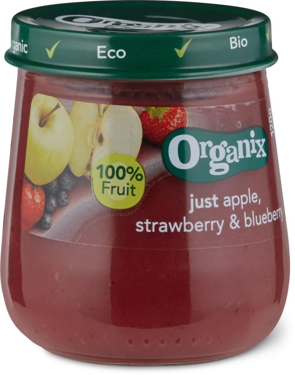 Organix Apfel Erdbeere Heidelbeere