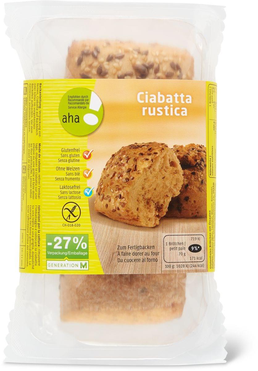Ciabatta rustica sans gluten aha!