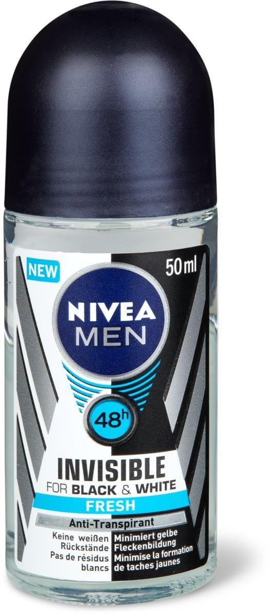 Nivea Men Deo Roll-on Black & White Invisible Fresh