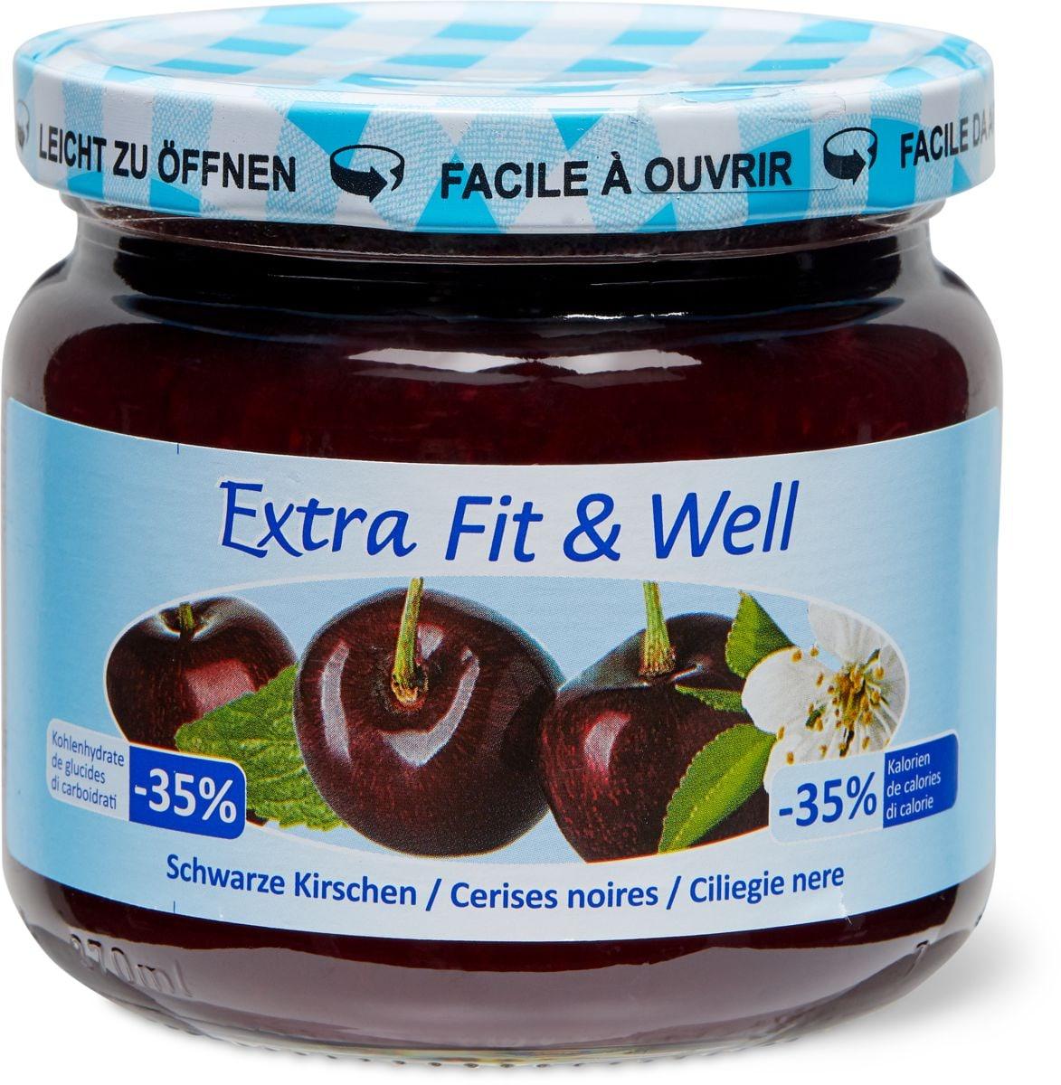 Extra Fit & Well Schwarze Kirschen
