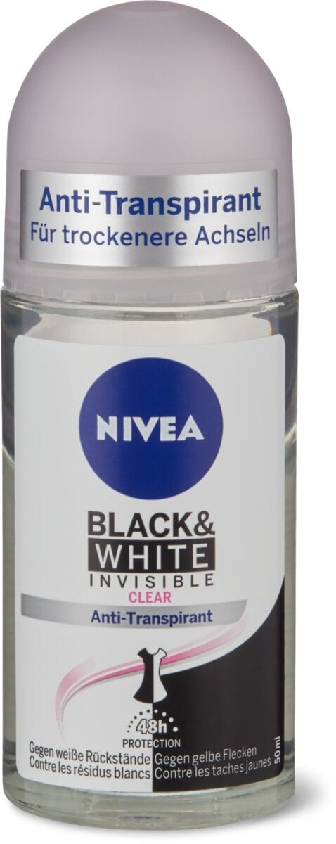 Nivea Deo Roll-on Black & White Invisible Clear