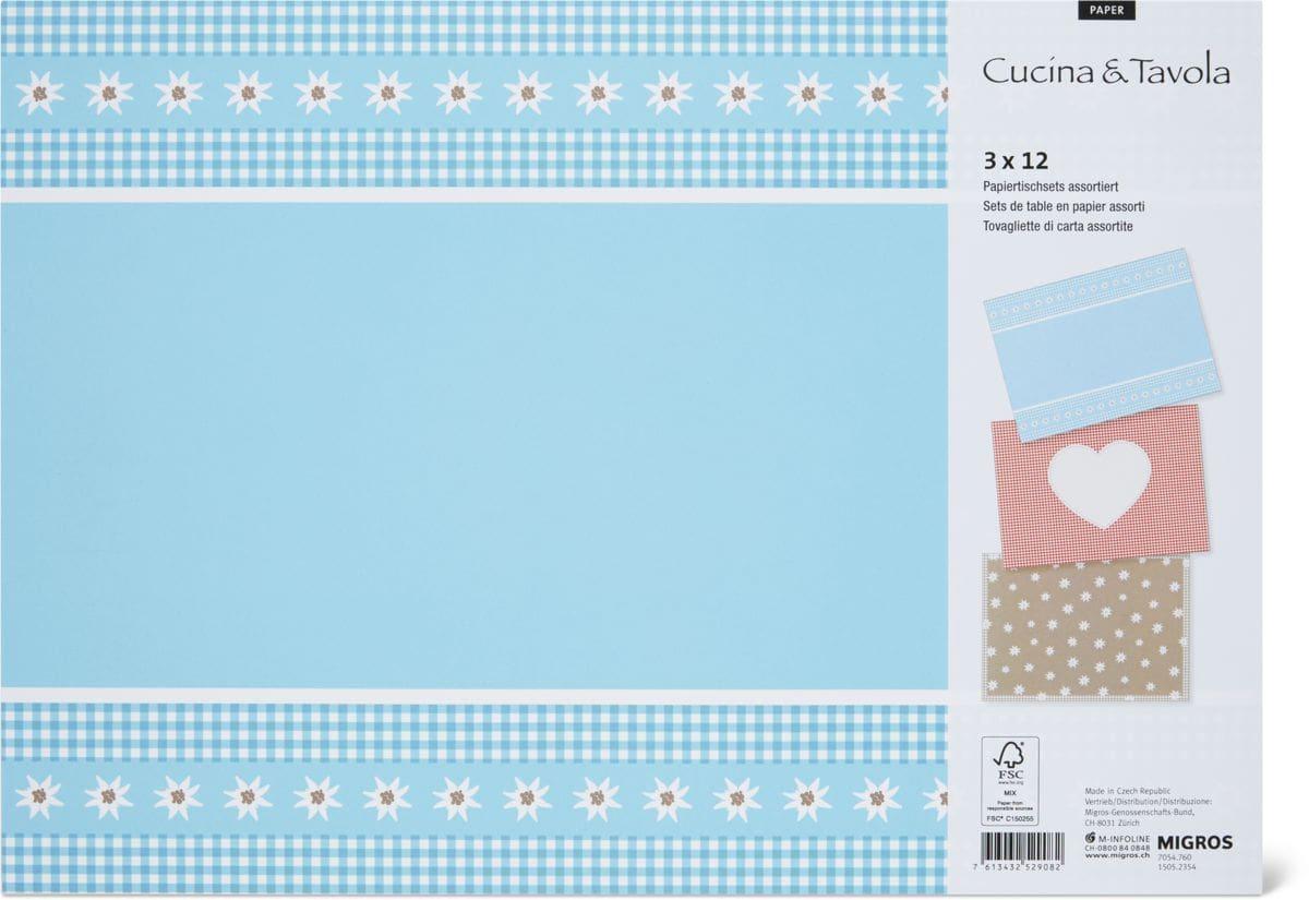 Cucina & Tavola Tovagliette di carta, 30 x 42 cm