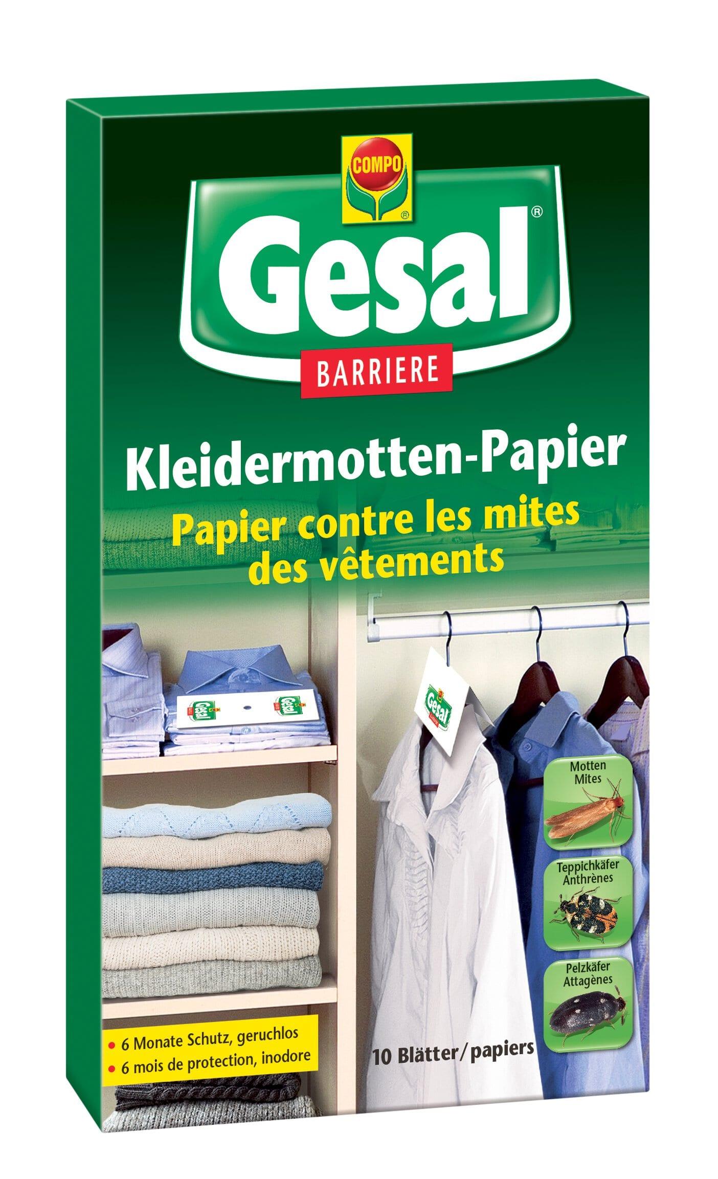 Compo Gesal Carta antitarme per indumenti BARRIERE, 10 carte