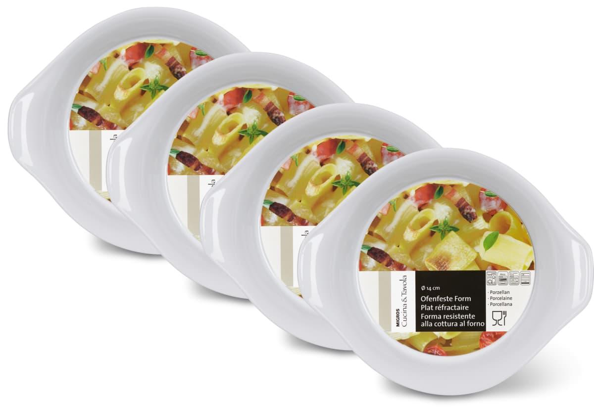 Cucina & Tavola Eierpfännchen aus Porzellan im 4er-Pack, 4er-Pack