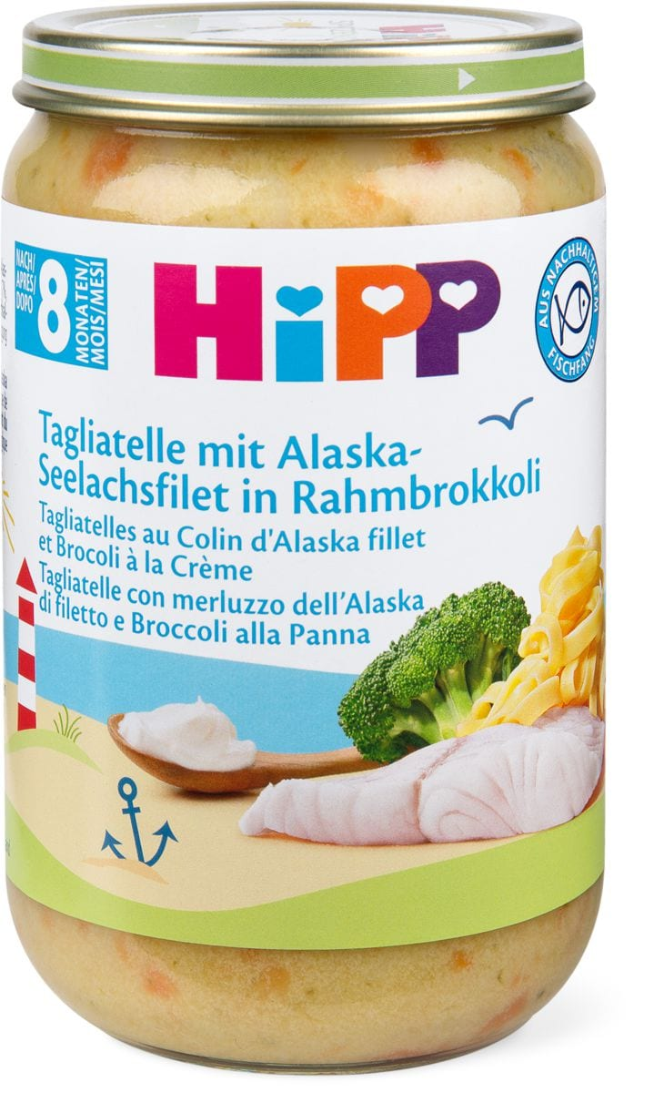 Hipp Tagliatelle con Pesce e broccoli