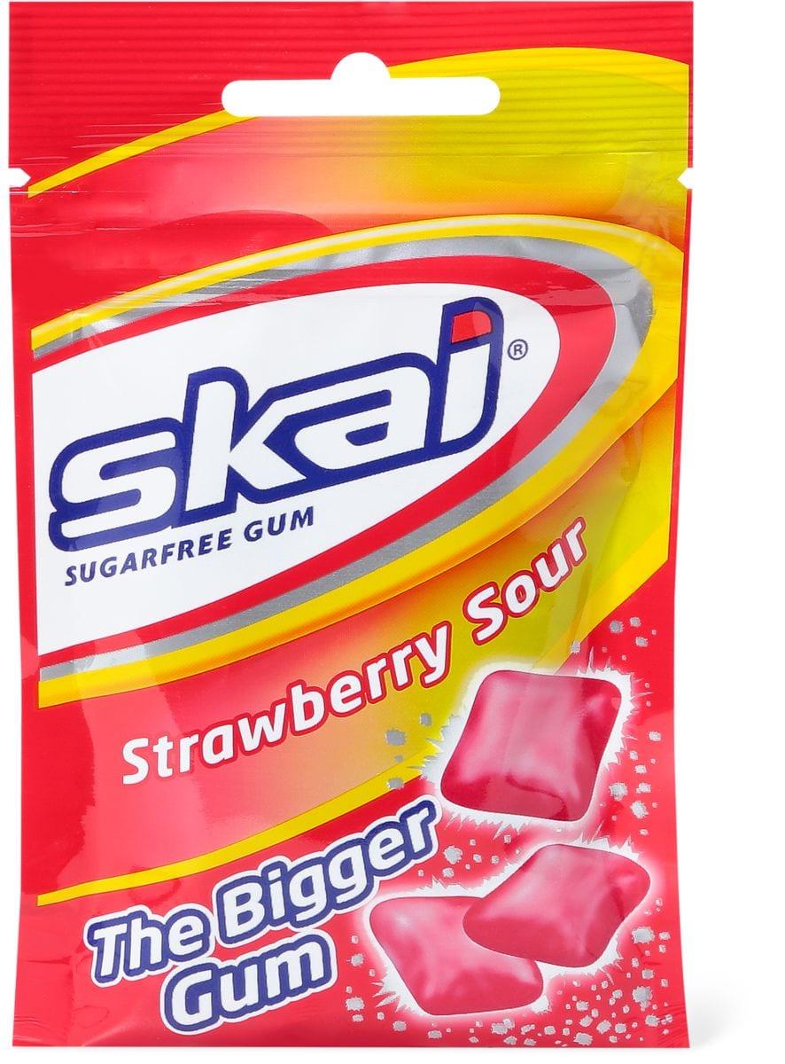 Skai the bigger gum Strawberry sour
