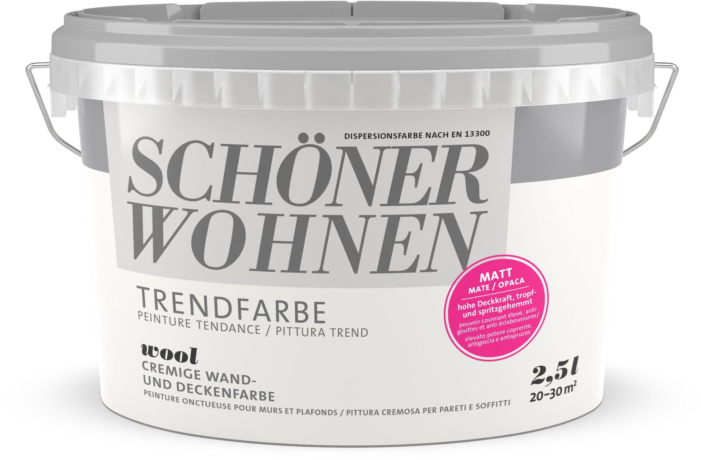 Schöner Wohnen Pittura trend OPACA 2,5L Wool Wool 2.5 l