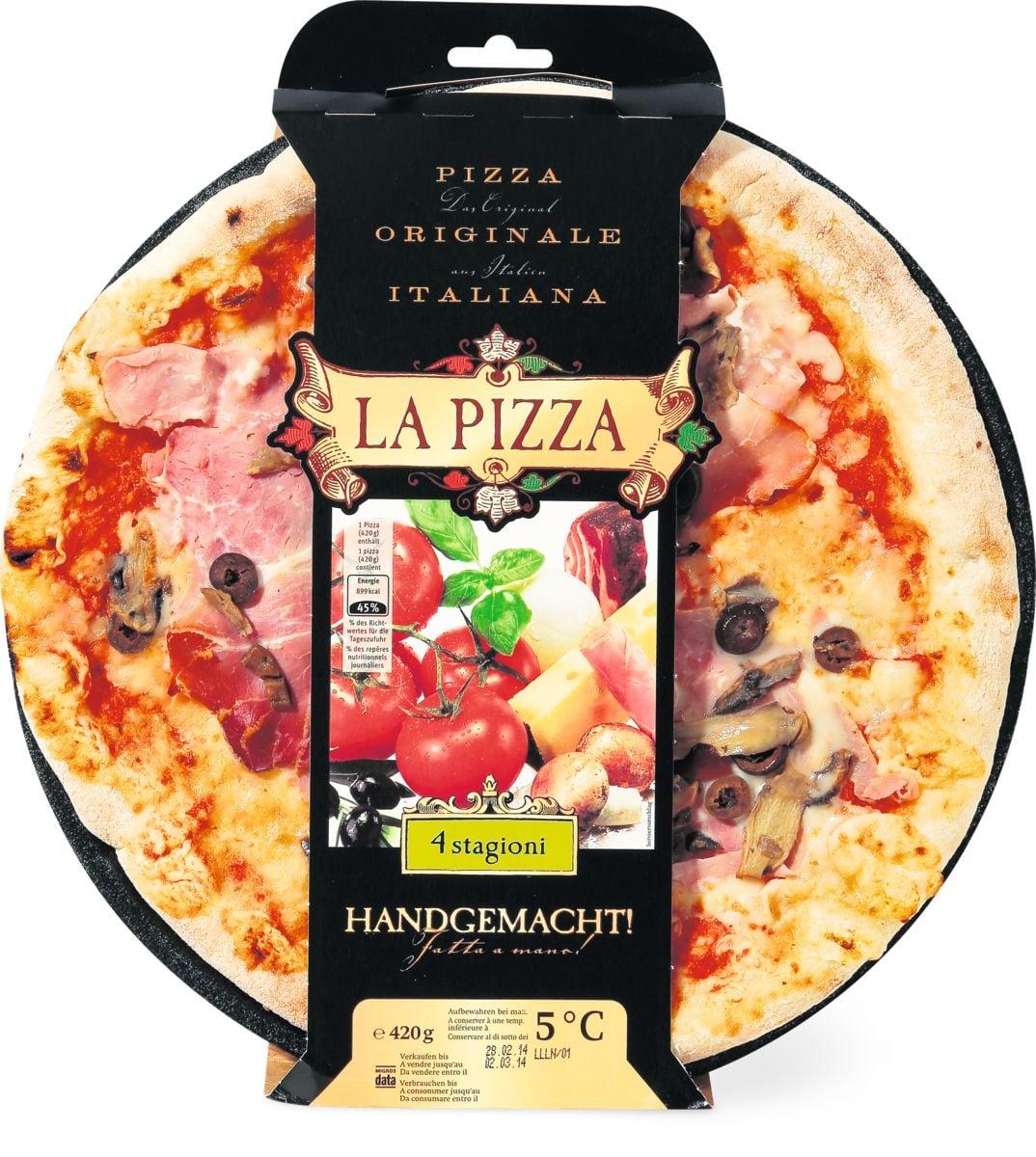 La Pizza 4 stagioni Handgemacht