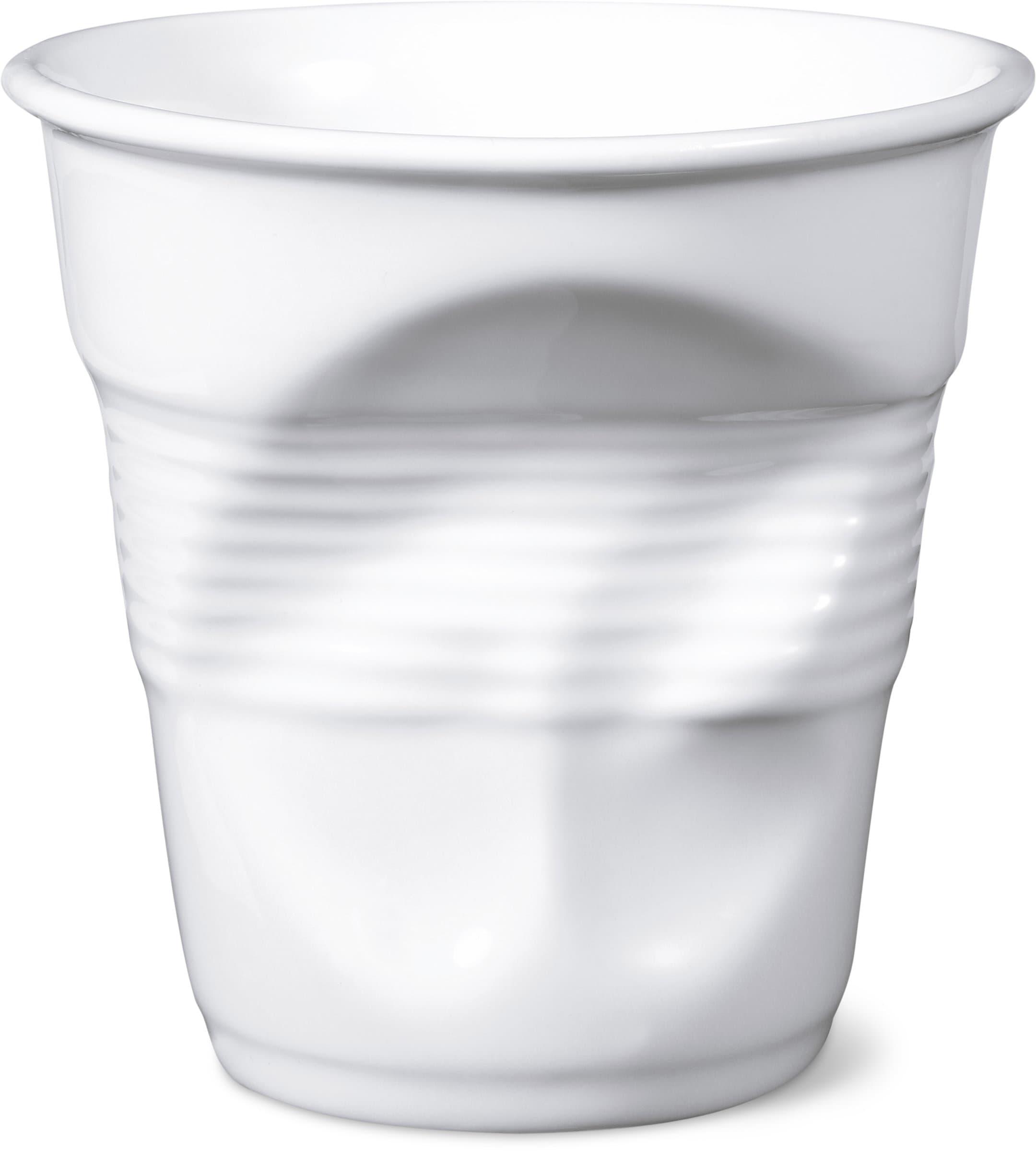 Revol REVOL Bicchiere con effeto accartocciato caffè
