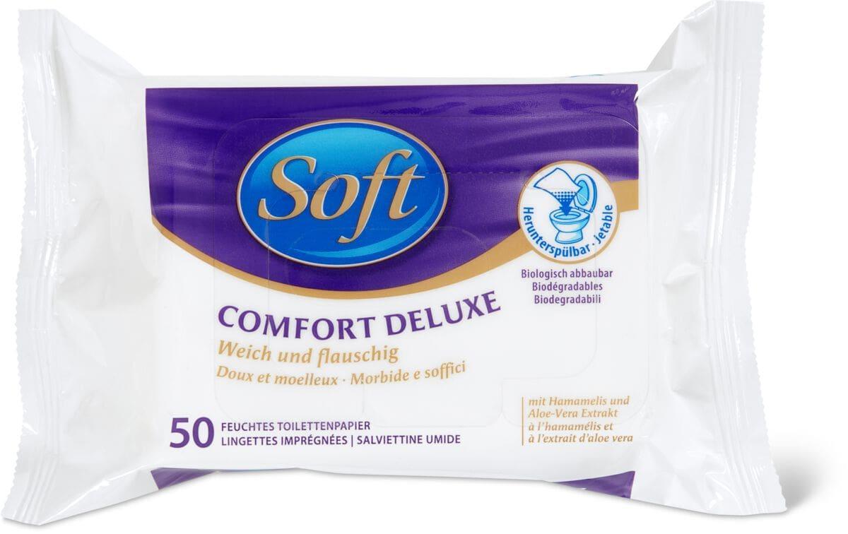 Soft Lingettes imprégnées Comfort Deluxe FSC ®