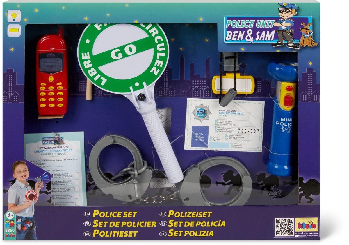 Theo Klein Set polizia, 10 pezzi Giochi di ruolo