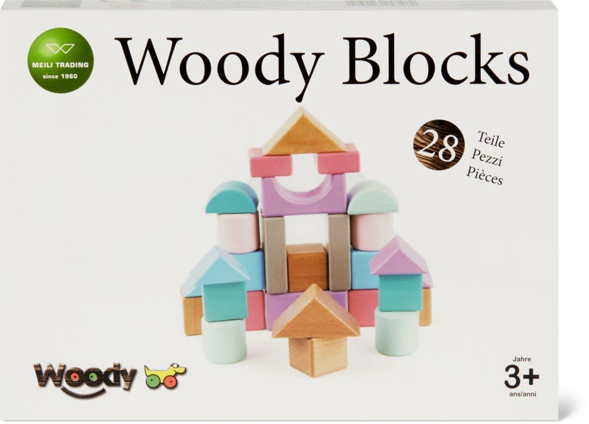 Woody Blocchi legnosi colorati Set di giocattoli