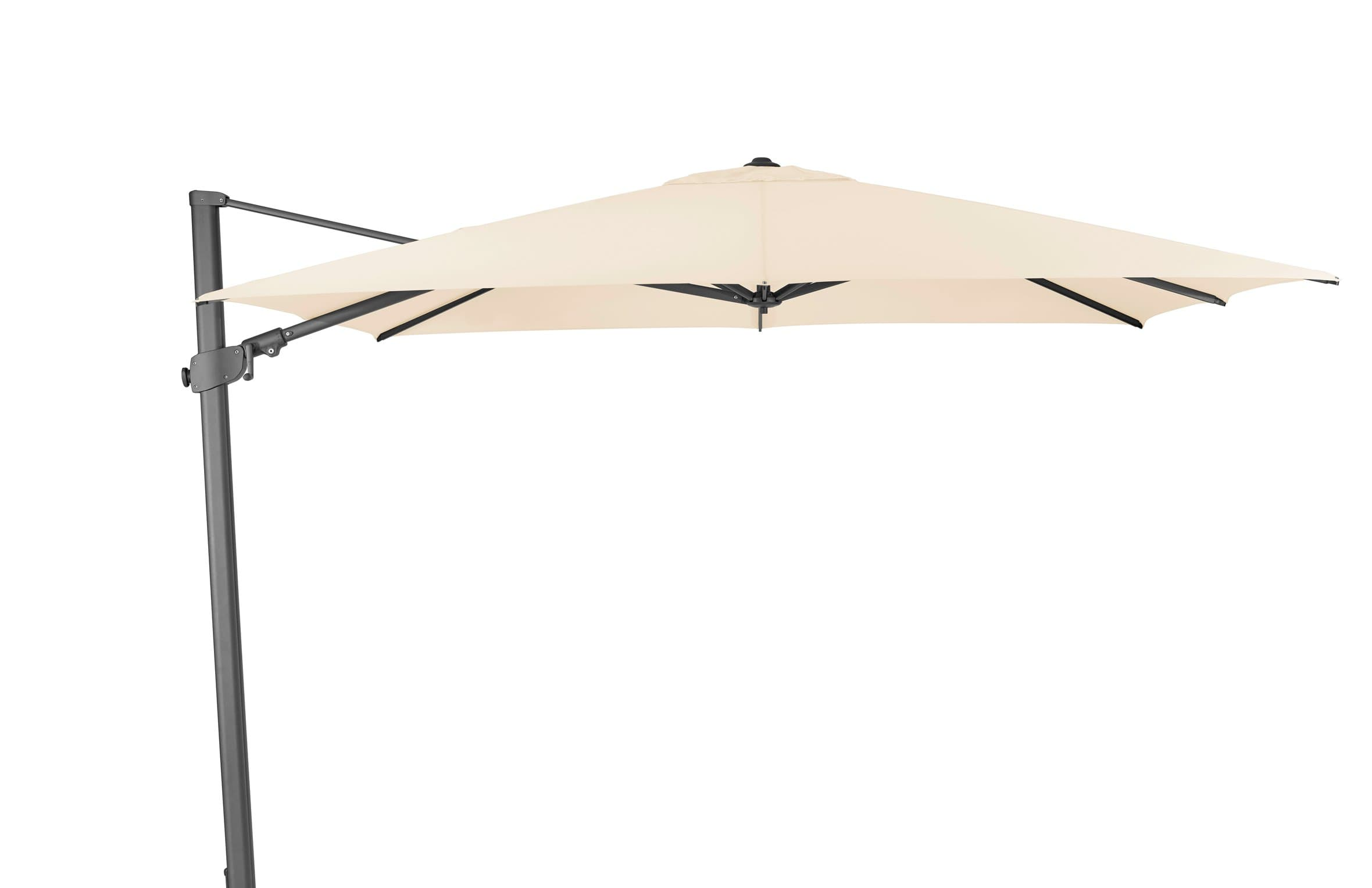 suncomfort by glatz varioflex parasol 300 x 300 migros. Black Bedroom Furniture Sets. Home Design Ideas