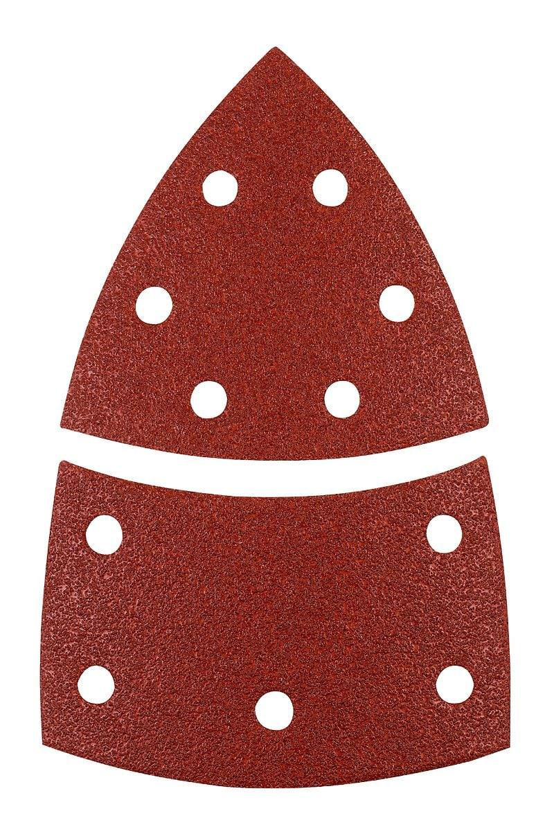 kwb Triangoli abrasivi, corindone pregiato, 100 x 62, 93 mm, K180