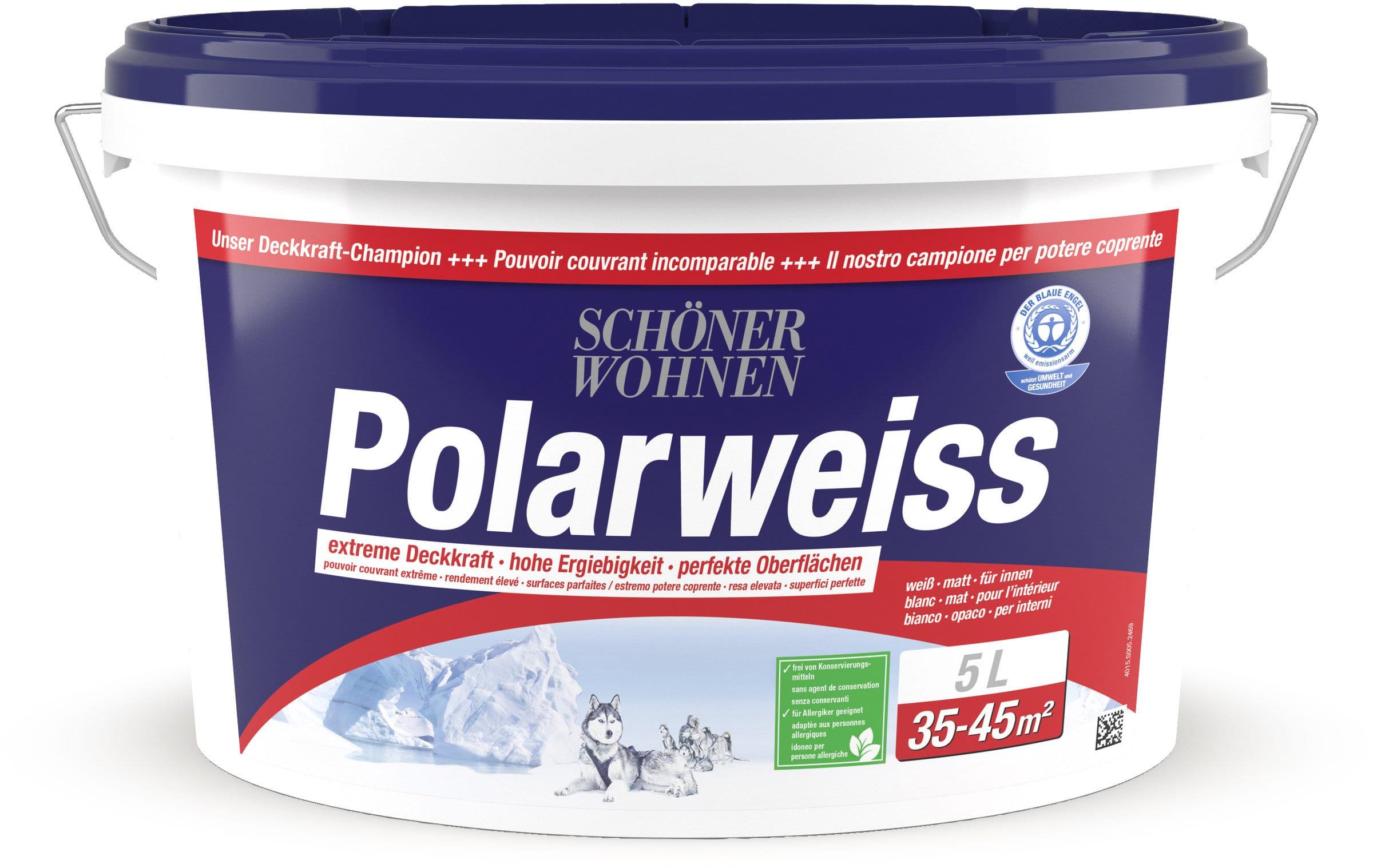 sch ner wohnen dispersion polarweiss weiss 5 l migros. Black Bedroom Furniture Sets. Home Design Ideas