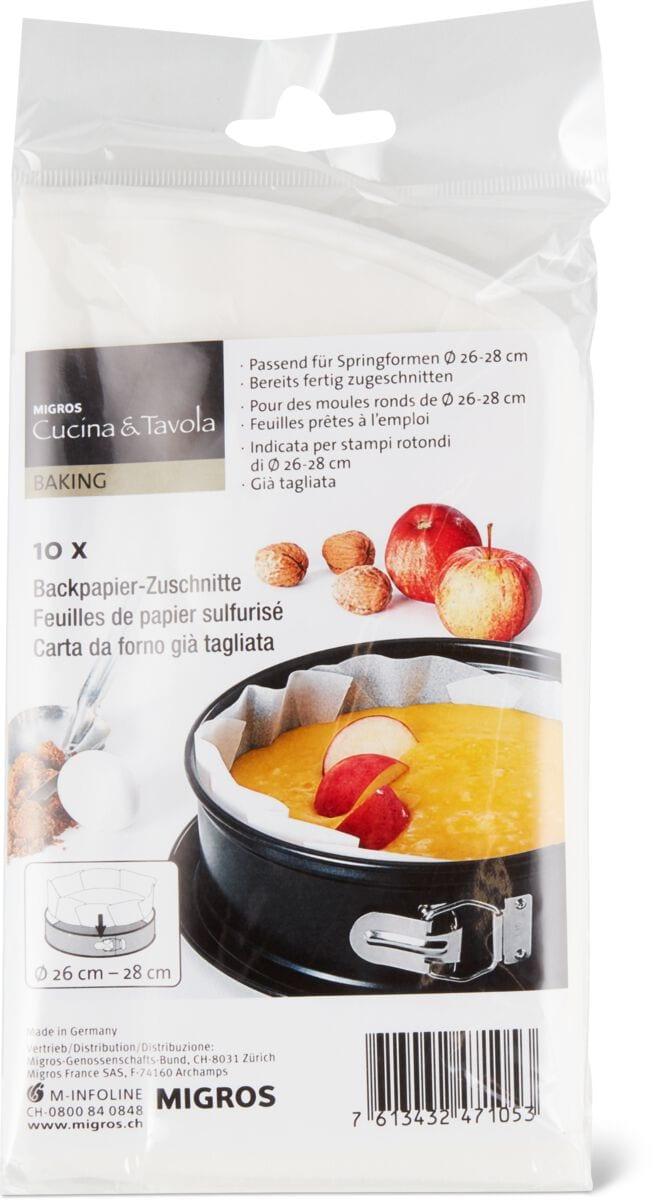 Cucina & Tavola Backpapier Zuschnitt rund