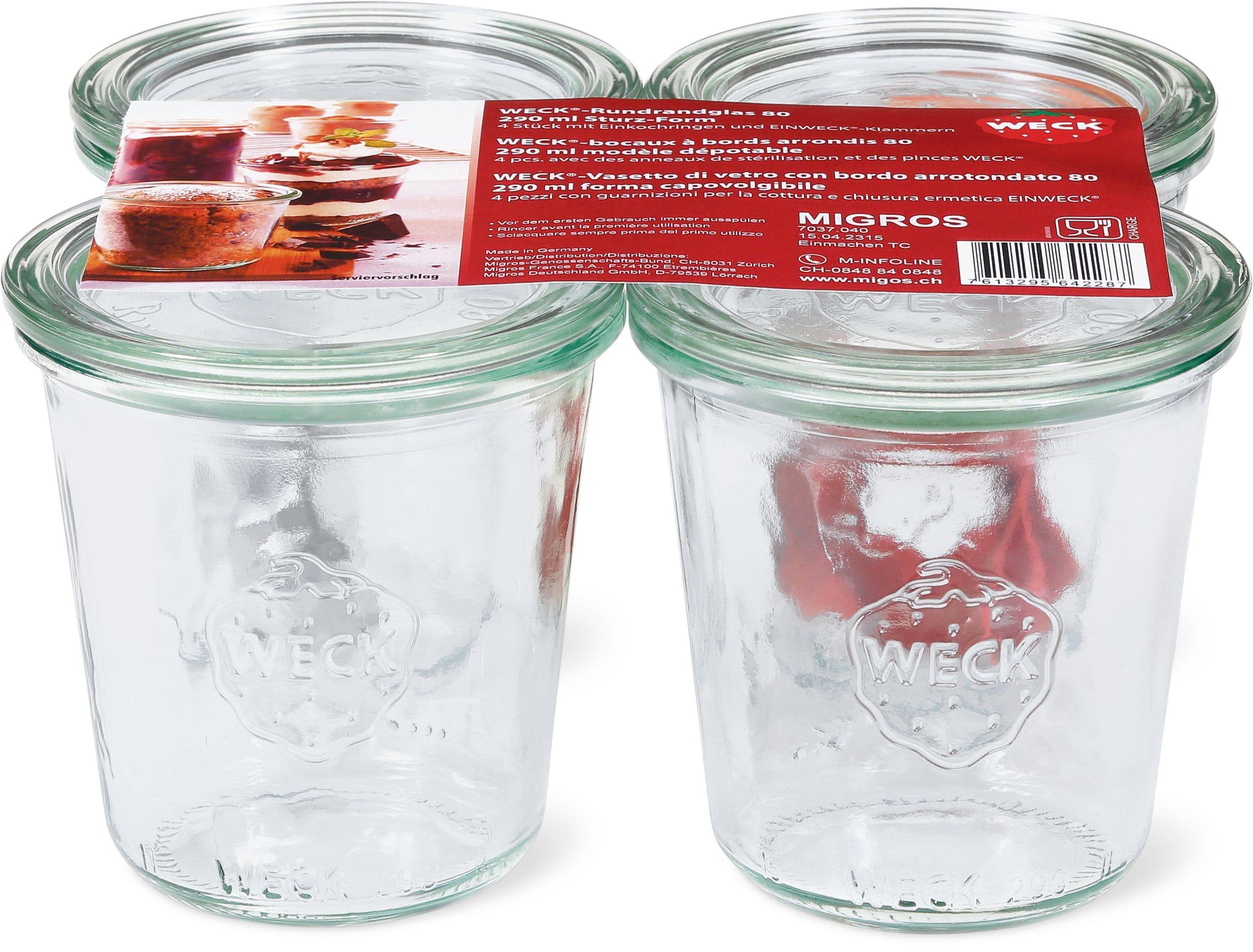 Weck Rundrandglas-Set