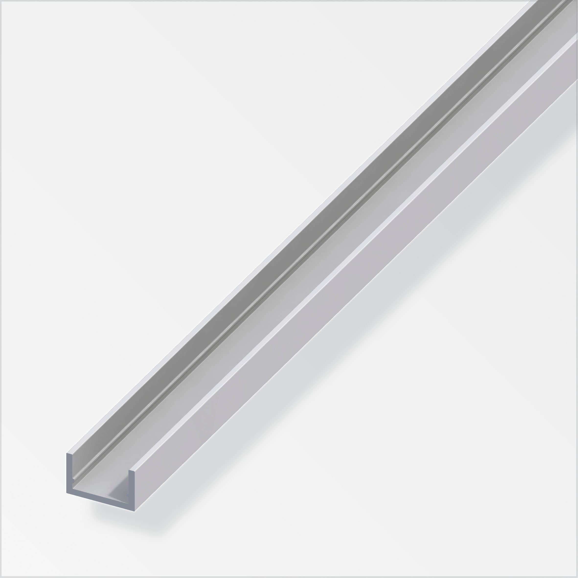 alfer U-Profil  1.5 x 10 x 16.5 mm silberfarben 1 m