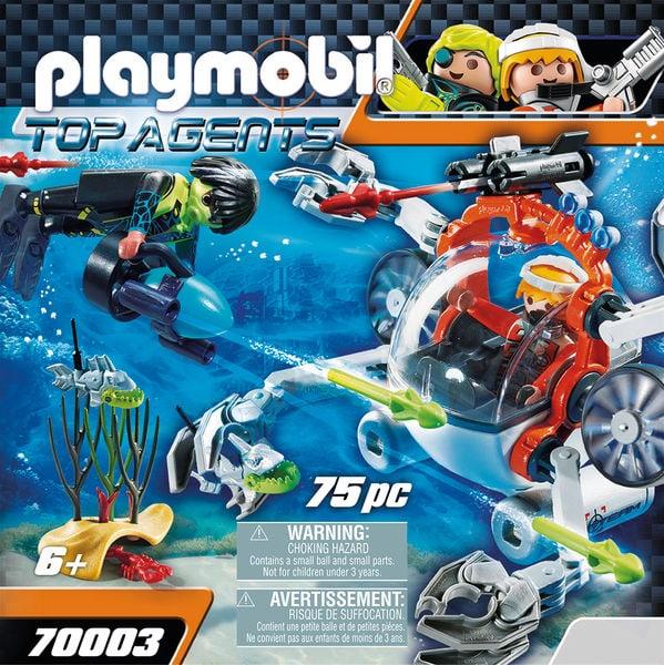 PLAYMOBIL 70003 Robot sous-marin Spy