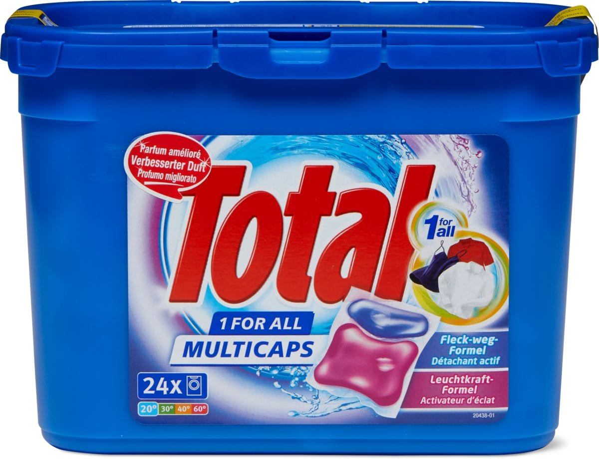 Total Produit de lessive 1 for All Multicaps en boîte